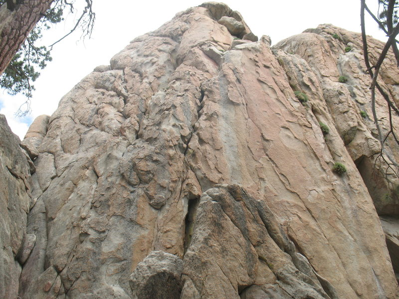 Rock Climbing Photo: Castle Rock - Southwest Face, Big Bear