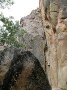 Rock Climbing Photo: Black Tower Crack (5.7), Castle Rock