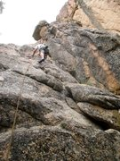 Rock Climbing Photo: Easy As Your Sister's Best Friend (5.5), Castle Ro...