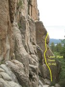 Rock Climbing Photo: Lower Black Tower (5.10a R), Castle Rock