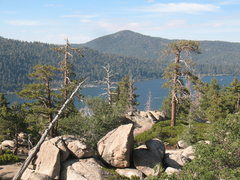 Rock Climbing Photo: Scenery to the north of Castle Rock Slab, Big Bear