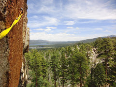 Rock Climbing Photo: The awesome view from the anchors shared by Trebuc...