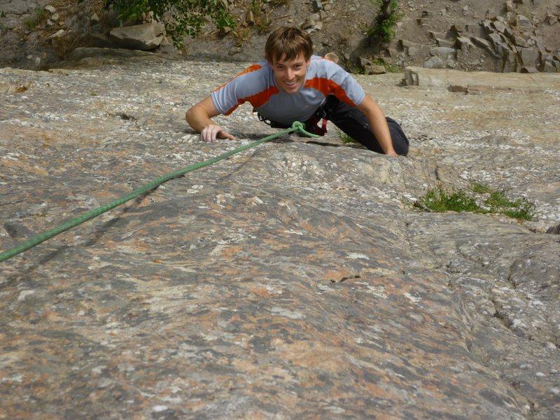 Rock Climbing Photo: Mike climbing