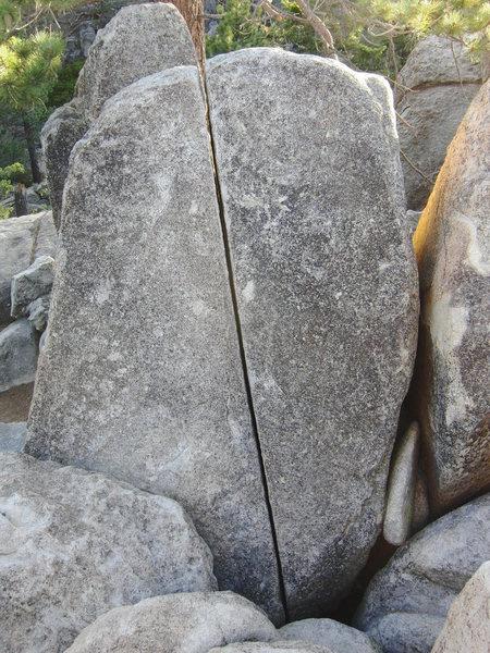 Pantshitter Splitter, as seen from the Summit of Castle Rock