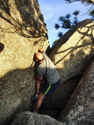 Rock Climbing Photo: The backside crack on Pantshitter Splitter is a re...