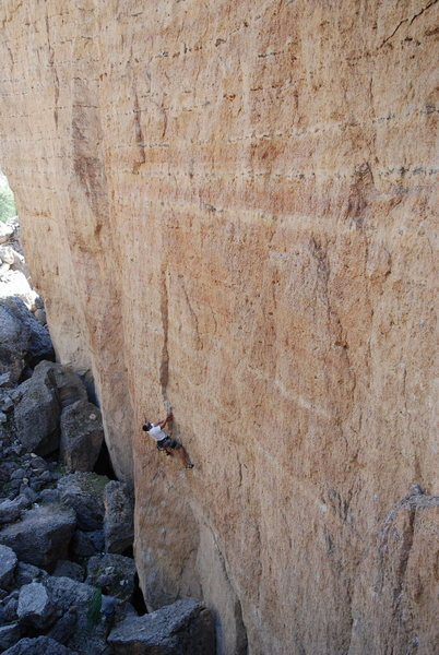 Rock Climbing Photo: On the Joy of Hersey Ten Sleep,WY