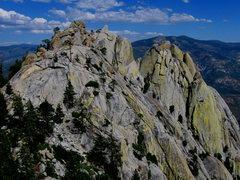 Rock Climbing Photo: The Dijin, Charlatan, Sorcerer, Wizard, and...  Th...