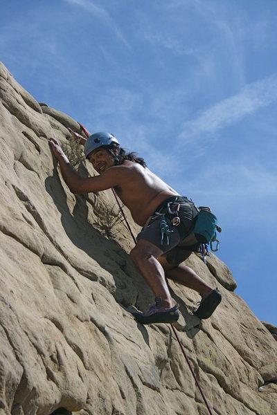 Rock Climbing Photo: Albert on Pin Scars 8-1-10