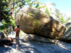 Rock Climbing Photo: Checking out the lines on the boulders after doing...