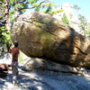 Checking out the lines on the boulders after doing pitches all day...  Needles, CA