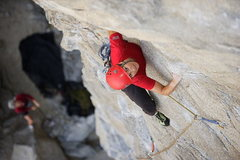 Rock Climbing Photo: Lisa Pritchett leading Flexercise