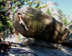Rock Climbing Photo: Ahhhhhh..... No more slab cruxes for the day!