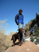 Me and my dog hiking in Eldo.