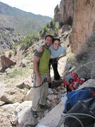 Rock Climbing Photo: Good friends, Brooke and Bob at Shelf Road