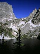 Rock Climbing Photo: Hallett Peak above Emerald Lake.