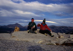 Rock Climbing Photo: Cheers.....Marc Hirt & Tim Hudgel on the summit of...