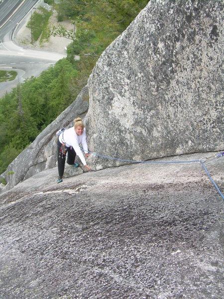 Rock Climbing Photo: Kimberly enjoying the clean cracks!