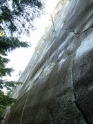 Rock Climbing Photo: Looking up the 1st pitch. It's not wet...that's gl...