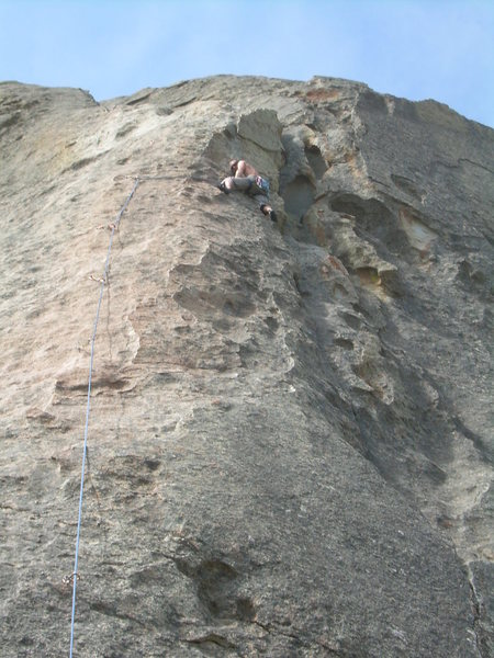 Rock Climbing Photo: Wyatt copping a rest