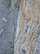 Rock Climbing Photo: Because there is still some loose rock, it's best ...