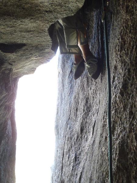 Rock Climbing Photo: Levitating