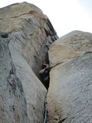 Rock Climbing Photo: Pitch 2, chimney