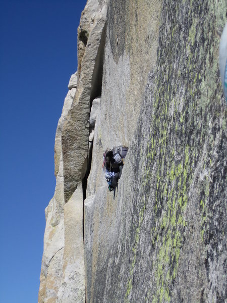 Rock Climbing Photo: Crawling along Thank God Ledge