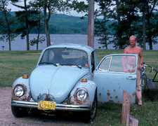 Rock Climbing Photo: Pigs-mobile at South Shore, Devils Lake Photo:  Sa...