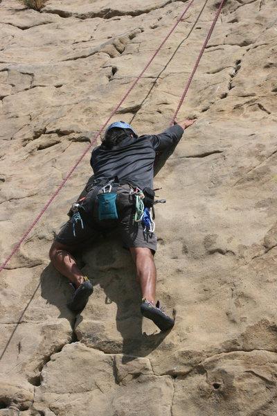 Rock Climbing Photo: Albert Ramirez on Pin Scars. 8-1-10