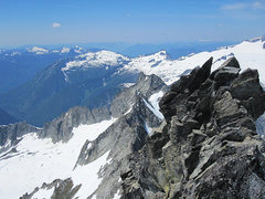 Rock Climbing Photo: Looking back at the west summit from the east summ...