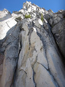 Rock Climbing Photo: First pitch starting options.  5.7 chimney on the ...