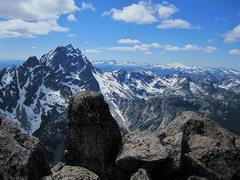 Rock Climbing Photo: Great view of Stuart from the summit.