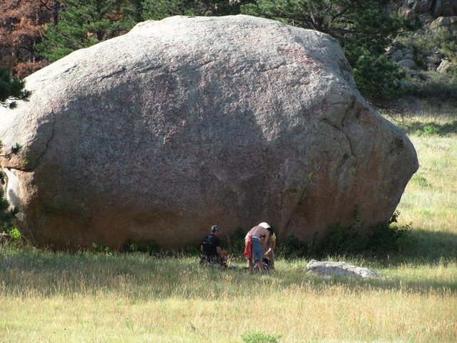 Cool setting to boulder in below Greyrock.<br> <br> Courtesy of Dan Howell.