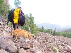 Rock Climbing Photo: Girl- and dog- friend friendly.