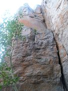 Rock Climbing Photo: This crack is much more fun than it looks.  It sta...