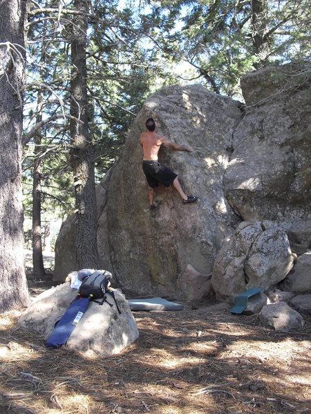 Davi Rivas on Greybeard, Picnic Area, Pine Mtn.