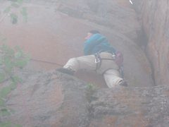 Rock Climbing Photo: This height-dependent crux is exceedingly fun, but...