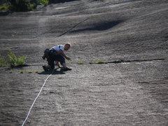 Rock Climbing Photo: Easy climbing at the start