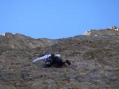 Rock Climbing Photo: Launching up steep rock