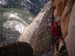 Rock Climbing Photo: This route can get very chilly in the wind and sha...