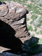 Rock Climbing Photo: Touching the Coop seen from above