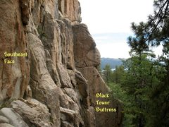 Rock Climbing Photo: Southeast Face and Black Tower Buttress, Castle Ro...