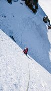 Rock Climbing Photo: Scott Sampietro traversing into the slopes of the ...
