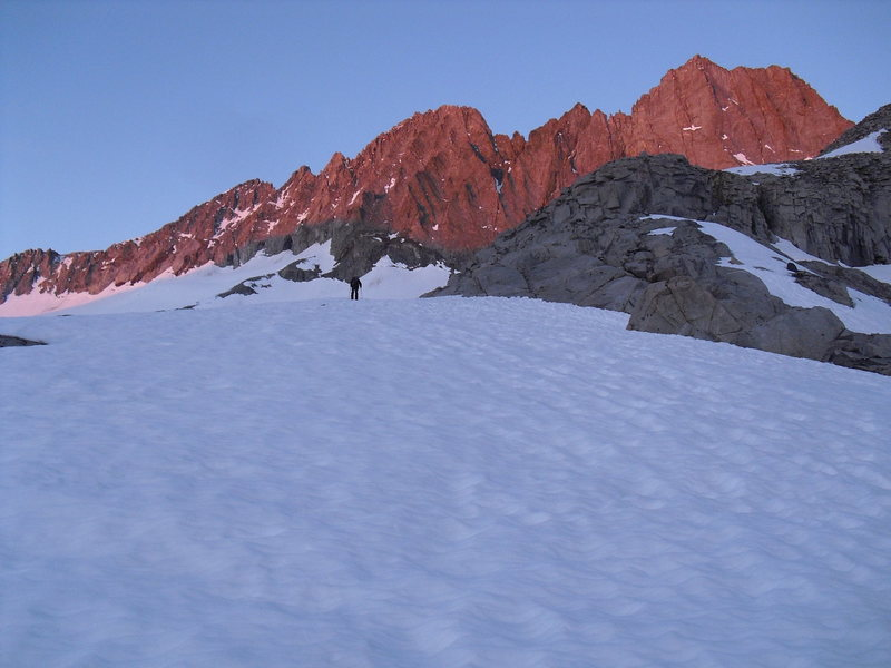 On approach to East Face Middle Palisade