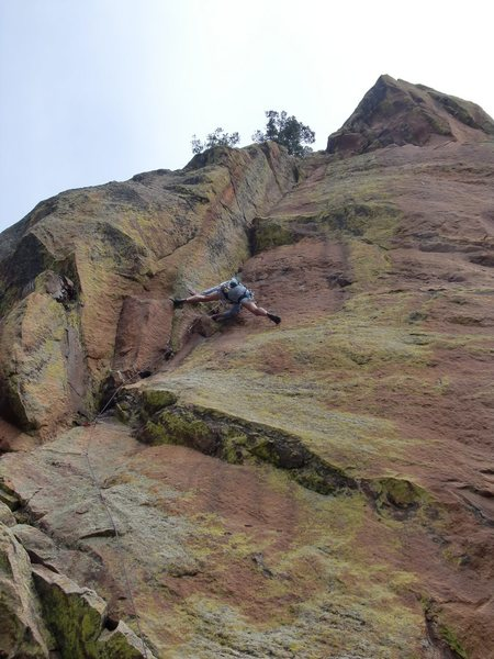 Rock Climbing Photo: Last or 4th pitch, and a lot harder than it looks....