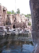 Rock Climbing Photo: When the water is high in the canyon... Great Shen...