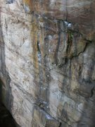 Rock Climbing Photo: The 4th and 5th bolts at the crack section