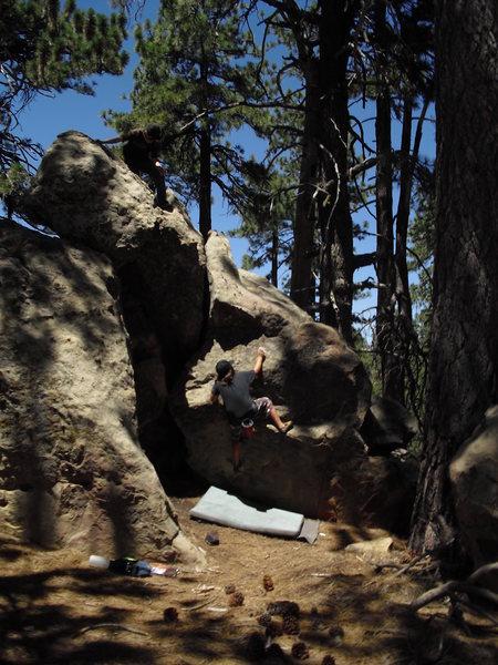 Carlo Rivas on Bronze Age V0 Pine Mtn Picnic Area.