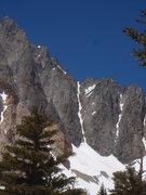 Rock Climbing Photo: St Jeans Couloir, Split Mtn.