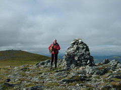 Rock Climbing Photo: P. Armstrong on the summit of Carn Nan Gobhar